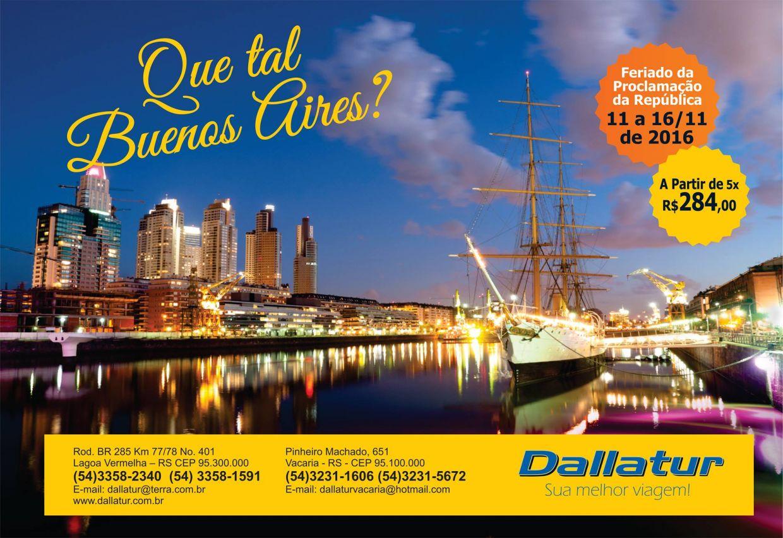 BUENOS AIRES - 11 A 16 DE NOVEMBRO