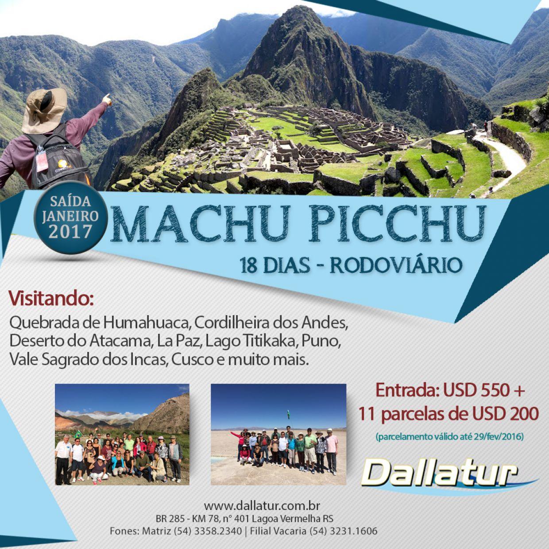 MACHU PICCHU - 18 DIAS - 2017